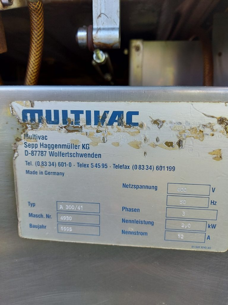 Vacuum Packaging Machines Multivac A300/41